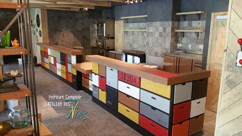 un comptoir appliquer un revetement de comptoir decoratif a lepoxy un comptoir meuble. Black Bedroom Furniture Sets. Home Design Ideas