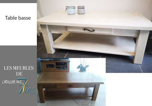 Table basse patinée